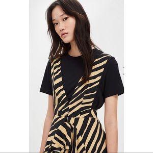 16fbe89cdf0b Topshop Dresses - TOPSHOP Zebra Print Pinafore Dress